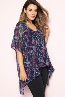 Plus Size - Sara Overlay Tunic