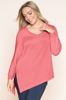Plus Size - Sara Asymetric Stretch Sweater
