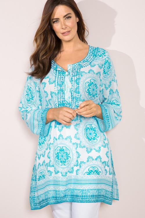 Sara Embroidered Trim Tunic