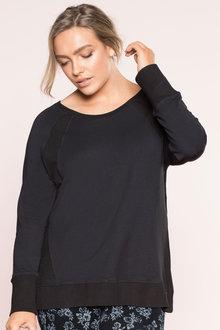 Plus Size - Sara Mesh Detail Sweatshirt