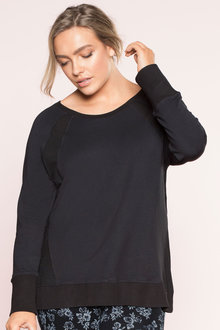 Plus Size - Sara Mesh Detail Sweatshirt