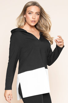 Plus Size - Sara Hooded Relaxed Tunic