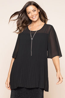 Plus Size - Sara Pleated Top