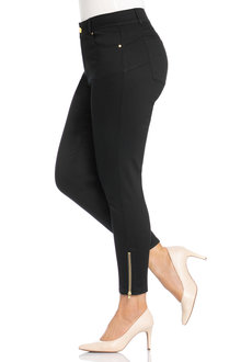 Plus Size - Sara So Slim Zip Detail Jeans