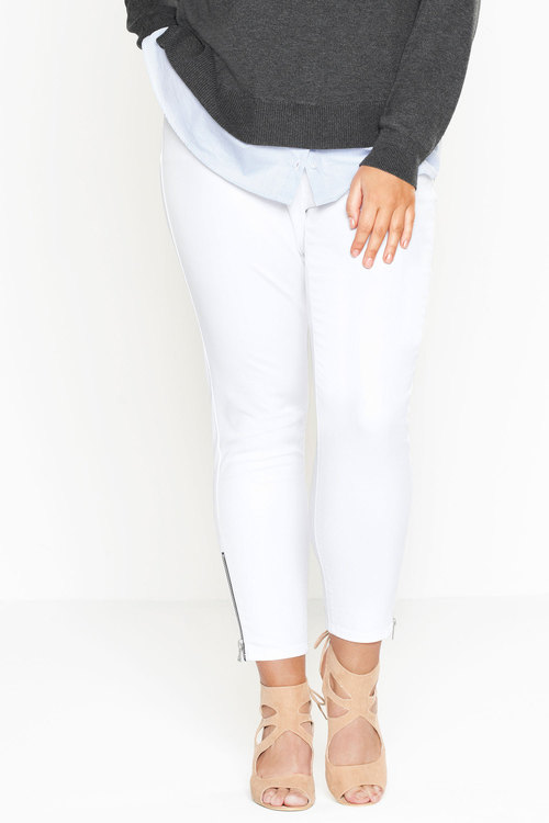 Sara So Slim Zip Detail Jeans