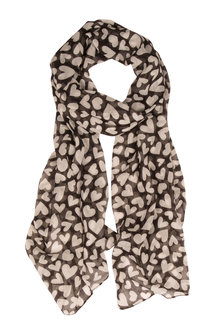 Printed Heart Scarf