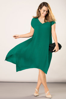 Plus Size - Sara Pleated Dress