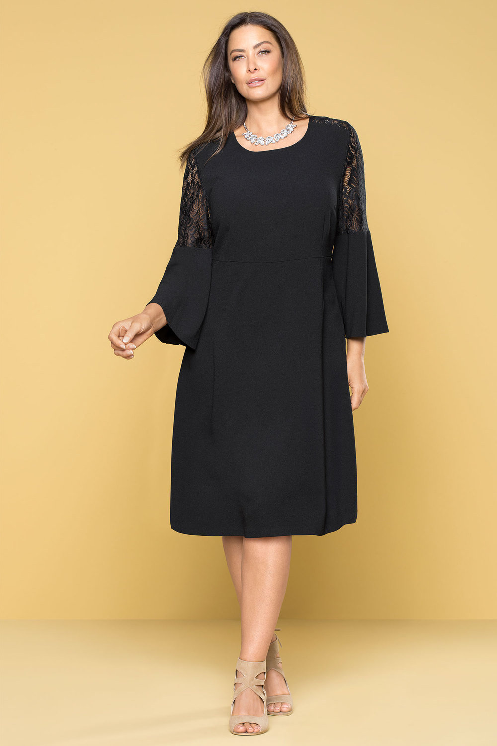 e5f465e89c5 Plus Size - Sara Lace Bell Sleeve Dress