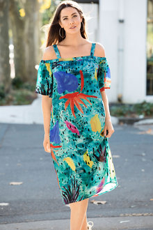 Plus Size - Sara Off The Shoulder Dress