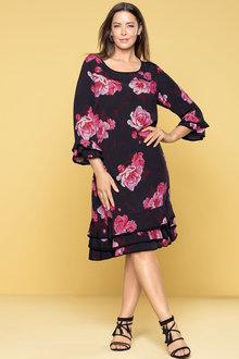 Plus Size - Sara Tiered Ruffle Dress