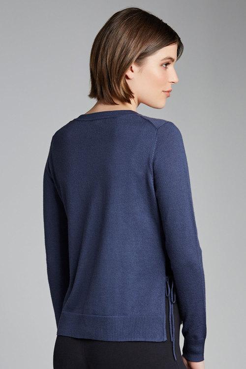 Capture Merino Side Tie Sweater