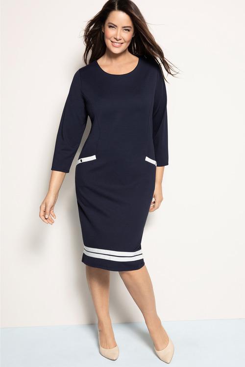 Plus Size - Sara Stretch Shift Dress