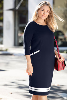 Plus Size - Sara Stretch Shift Dress