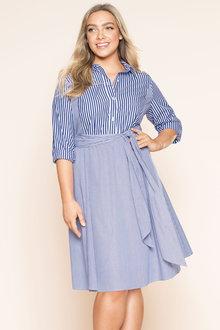 Plus Size - Sara Tie Front Dress