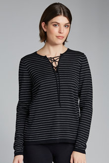 Capture Merino Lace Front Sweater