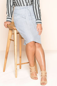 Plus Size - Sara Stripe Skirt - 178633