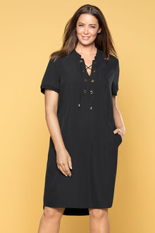 Plus Size - Sara Eyelet Shift Dress