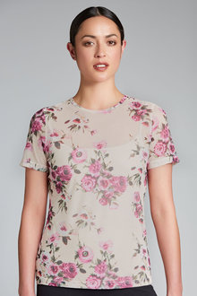 Emerge Tulle Layering Top