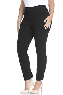 Plus Size - Sara Elasticated Slim 7/8 Jean