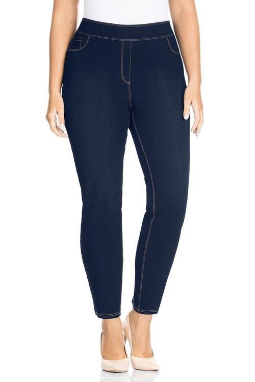 Sara Elastic Waist Slim Leg 7/8 Jean