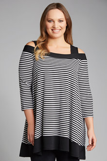 Plus Size - Sara Cold Shoulder Tunic