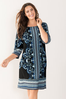 Plus Size - Sara Stretch Knit Shift