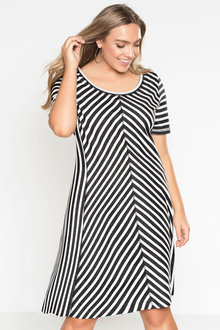 Plus Size - Sara Stripe Knit Dress