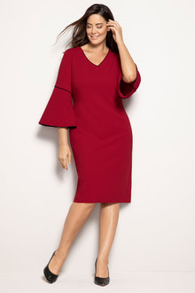 Plus Size - Sara Bell Sleeve Dress
