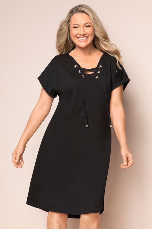Plus Size - Sara Eyelet Knit Dress