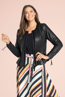 Plus Size - Sara Leather Jacket