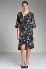 Plus Size - Sara Crossover Ruffle Dress