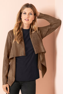 Capture Drape Suedette Jacket