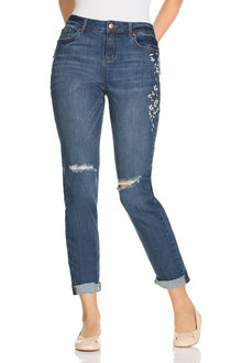 Capture Embroidered Boyfriend Jean