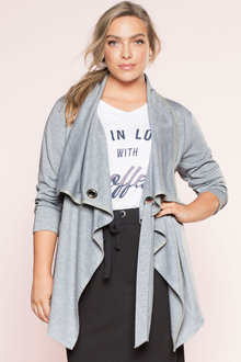 Plus Size - Sara Athleisure Knit Jacket