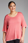 Plus Size - Sara PJ Trim Top