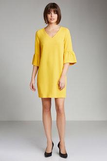 Emerge Textured Ruffle Sleeve Dress