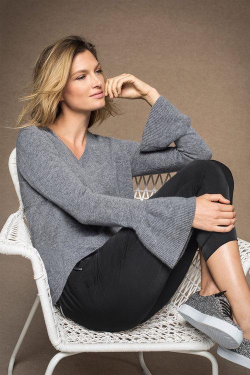Grace Hill Ruffle Knit Sweater