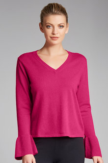 Grace Hill Ruffle Knit Sweater