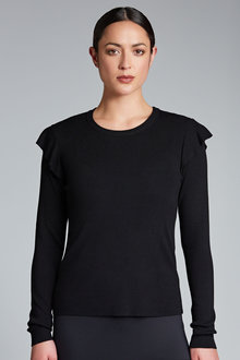 Emerge Ruffle Shoulder Jumper