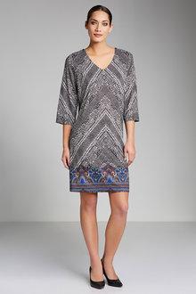 Capture Print Knit Dress - 178846