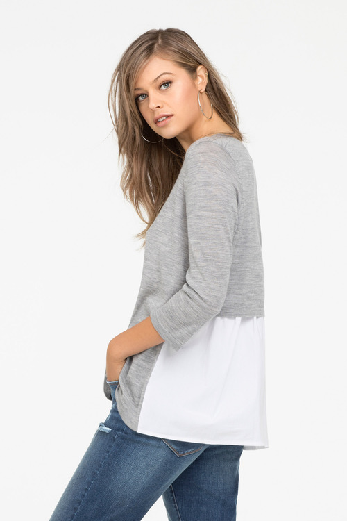 Merino Shirt Tail Jumper