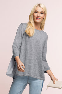 Merino Shirt Tail Jumper - 178852