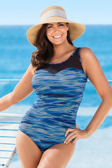 Plus Size - Quayside Woman Mesh Swimsuit