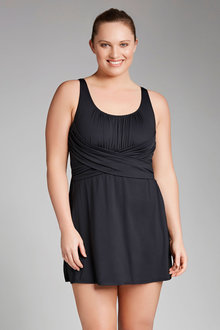 Plus Size - Quayside Woman Wrap Skirted Swimsuit