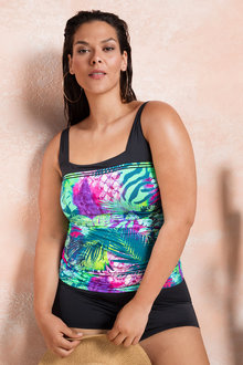 Quayside Woman Square Tankini Top - 178917