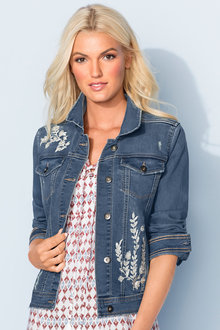 Emerge Embroidered Denim Jacket