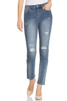 Capture Metallic Detail Boyfriend Jean