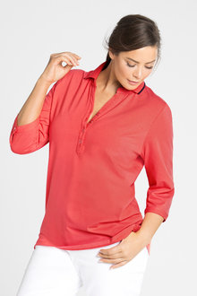 Plus Size - Sara 3/4 Sleeve Polo