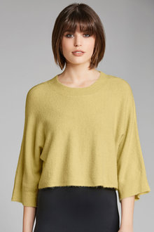 Emerge Crop Knit Jumper With Bell Sleeves