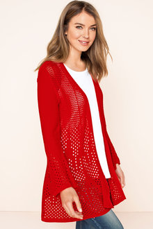Capture Knitwear Pointelle Knit Cardigan
